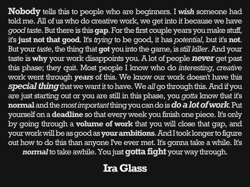 Ira Glass on Creativity